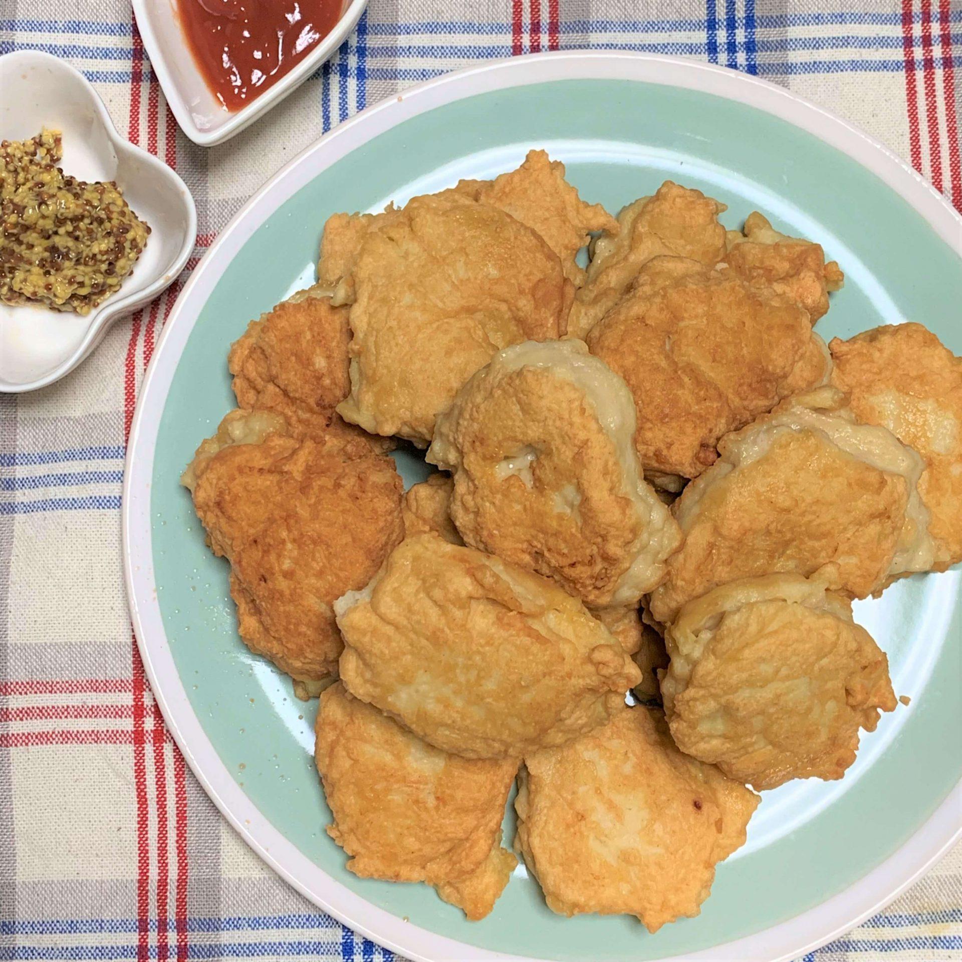 簡単手作り☆鶏ひき肉でチキンナゲット
