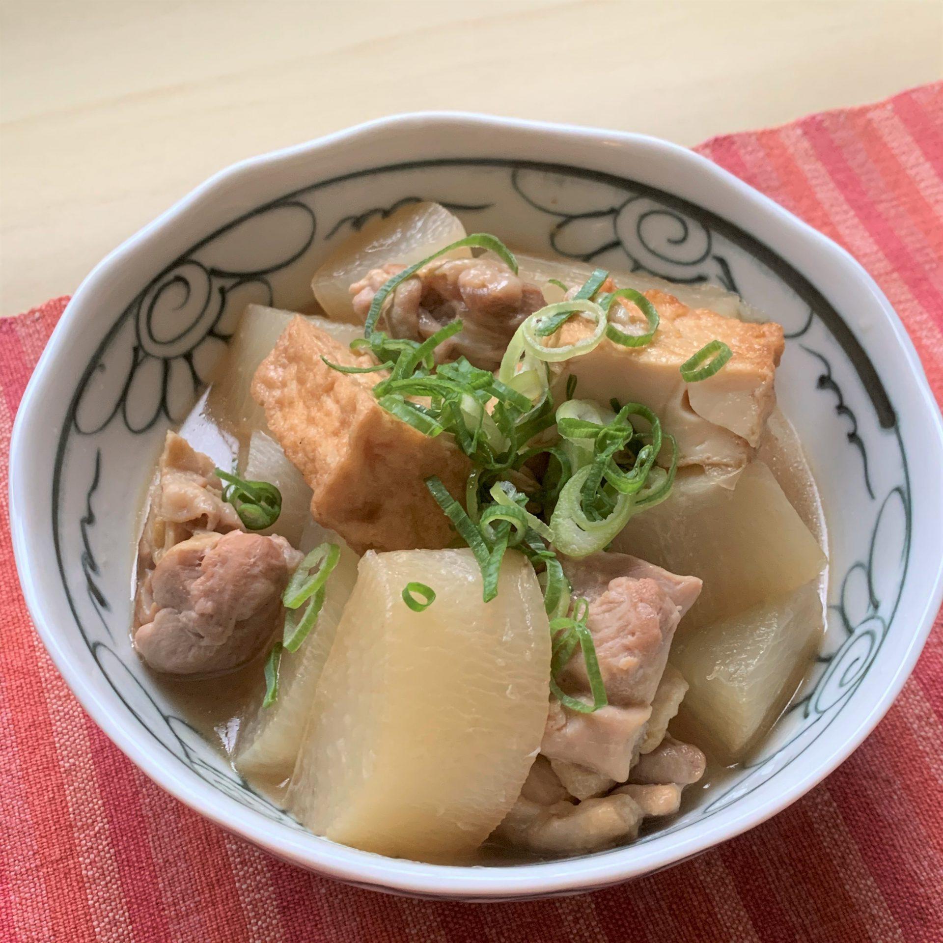 ほっこり和のおかず☆鶏もも肉と厚揚げと大根の煮物