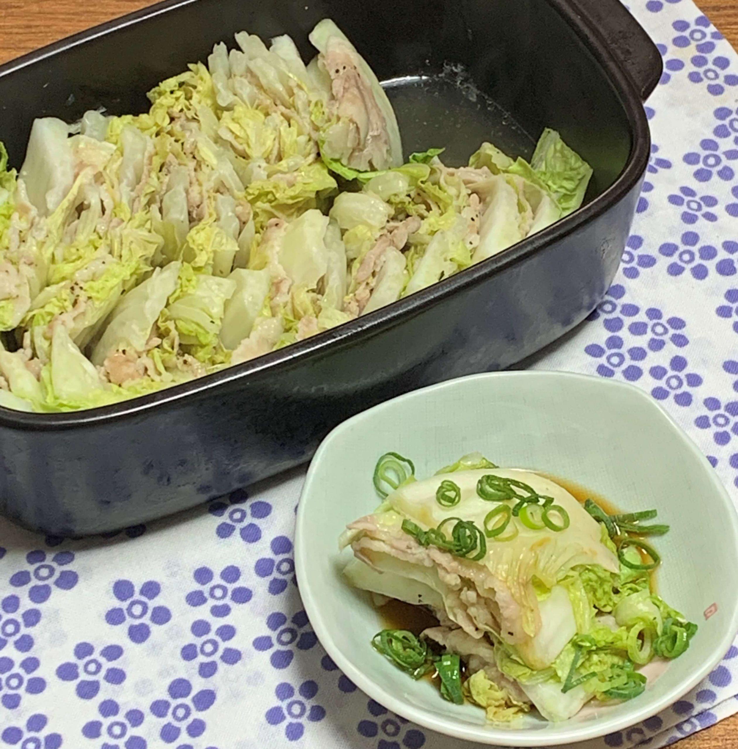 レンジでジューシー☆白菜と豚バラ肉の重ね蒸し
