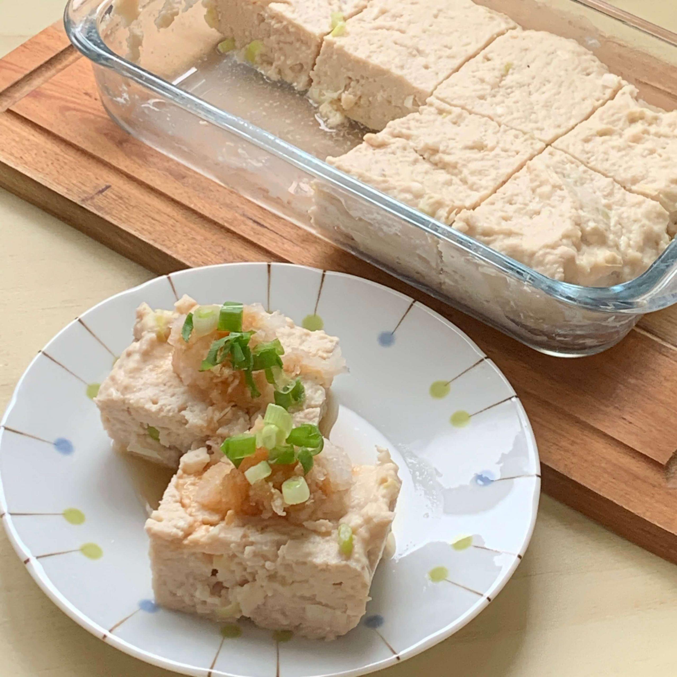 レンジで簡単☆鶏むねミンチの和風ジャンボハンバーグ
