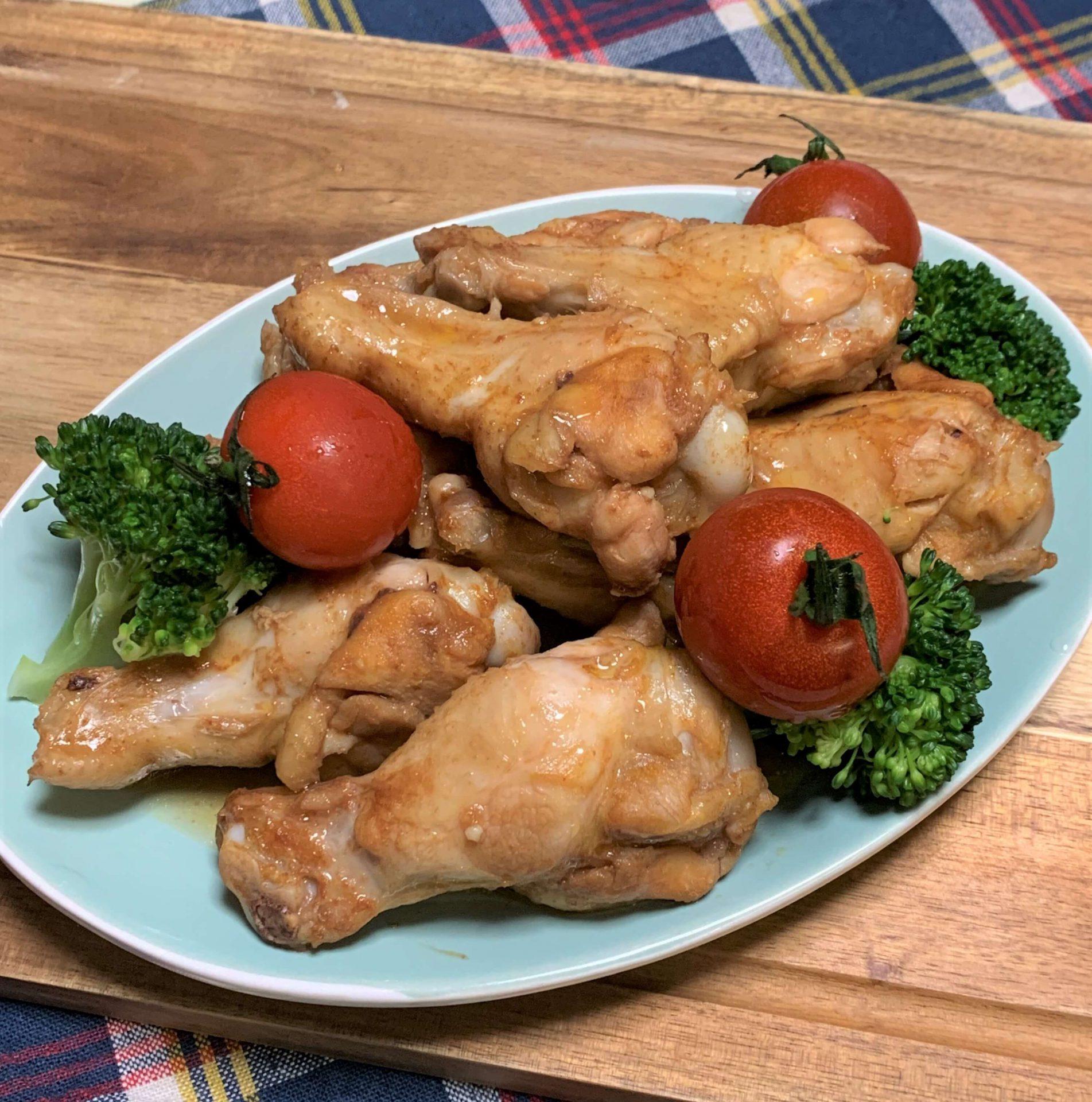 レンジで簡単☆鶏手羽元のバーベキューソース