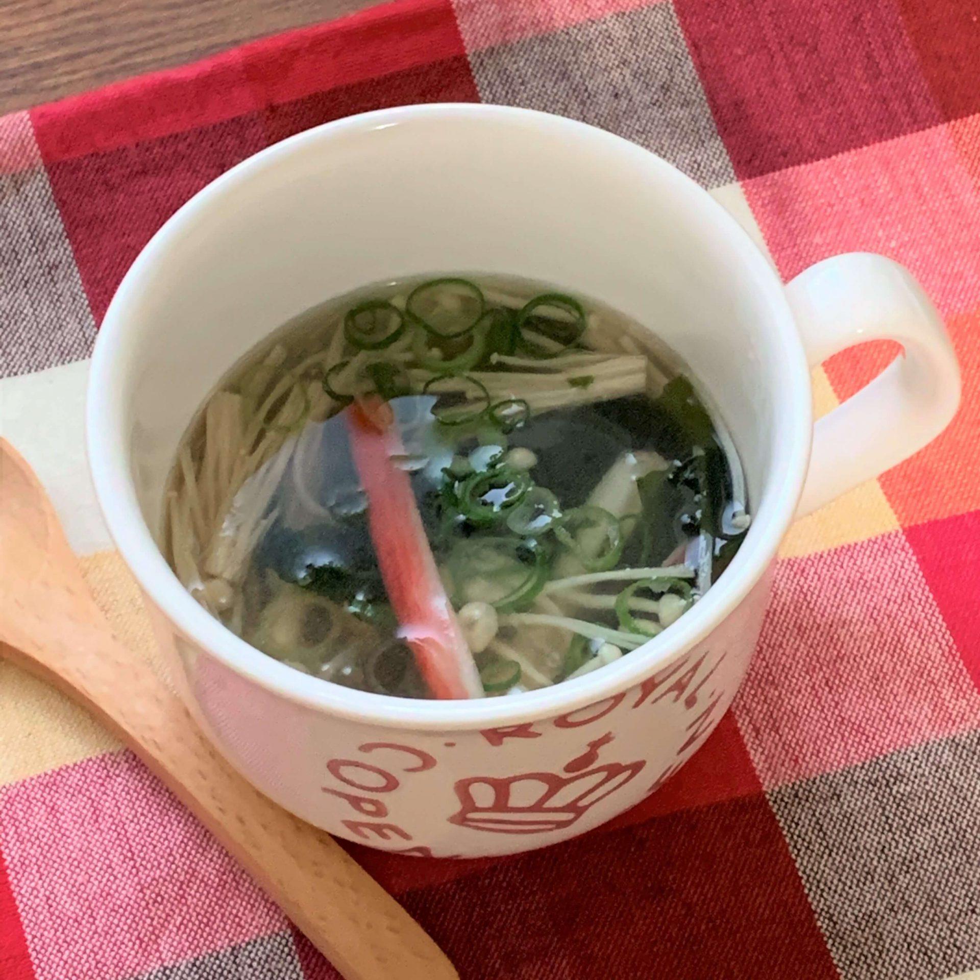 レンジで簡単☆カップ春雨スープ
