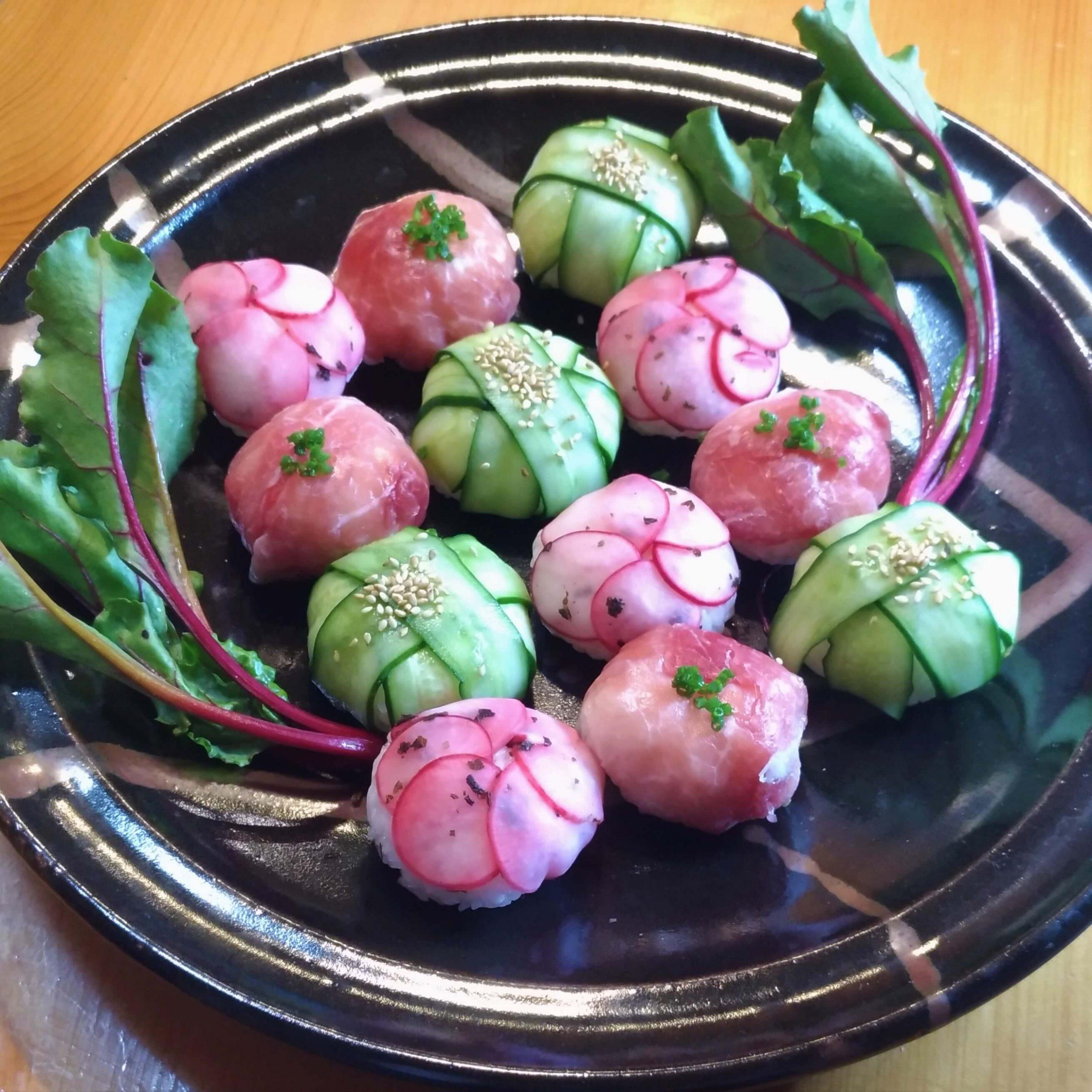 生ハムと野菜の洋風手鞠ご飯