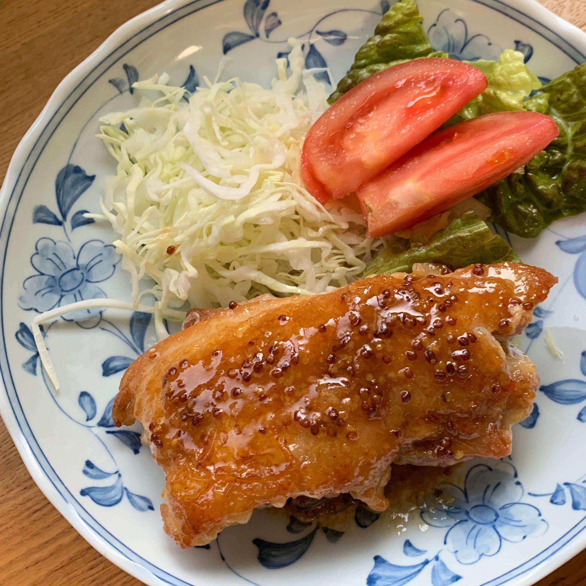 フライパンひとつで☆鶏もも肉のハニーマスタード焼き