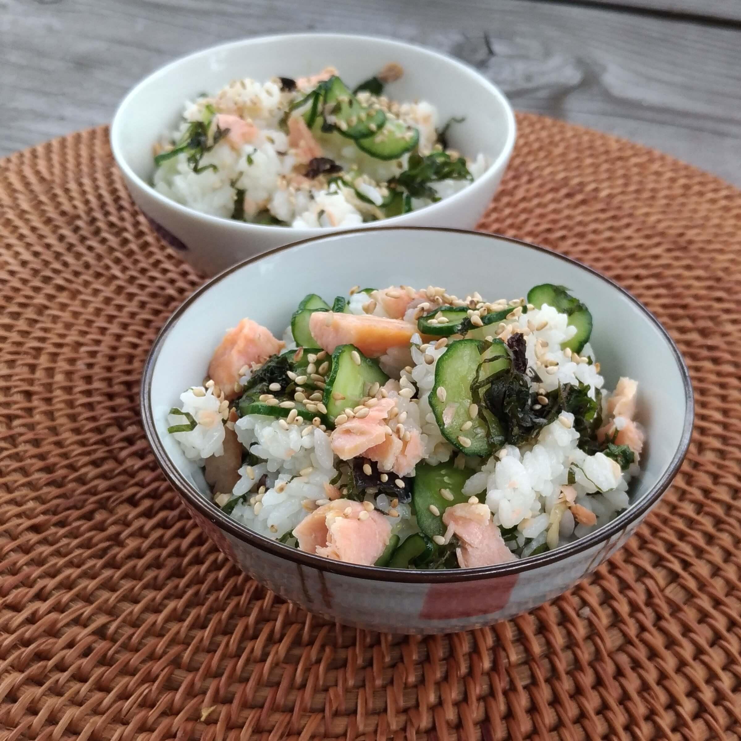 レンジで簡単☆鮭のさっぱり混ぜご飯