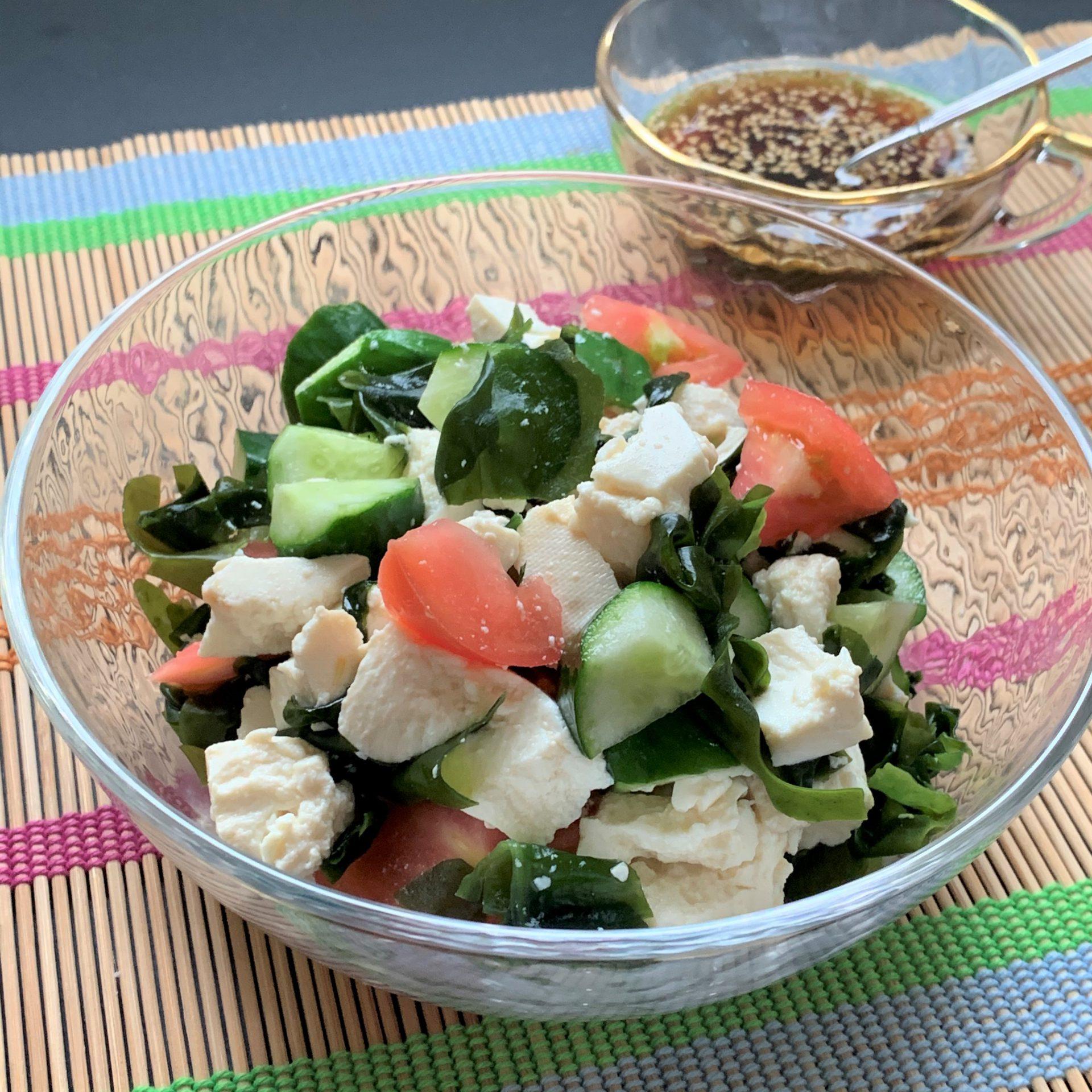 夏にぴったり☆豆腐とトマトの中華サラダ