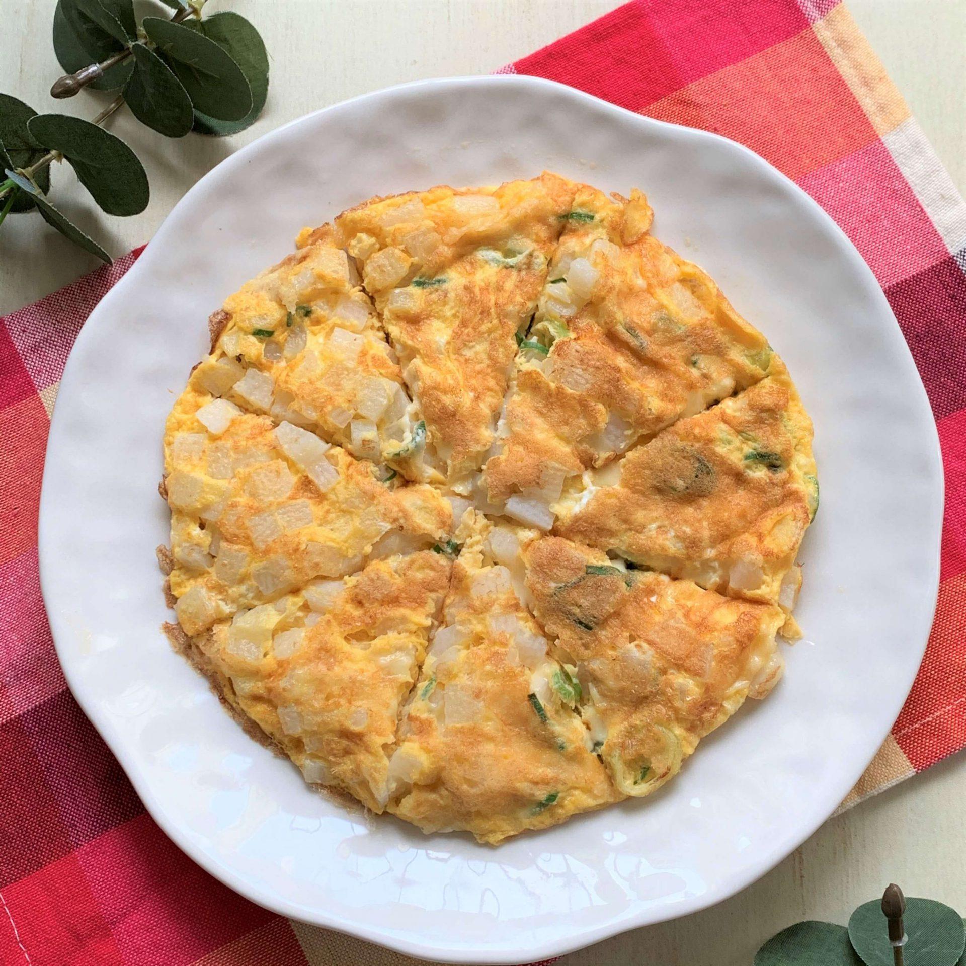 栄養たっぷり☆長芋とチーズの卵焼き