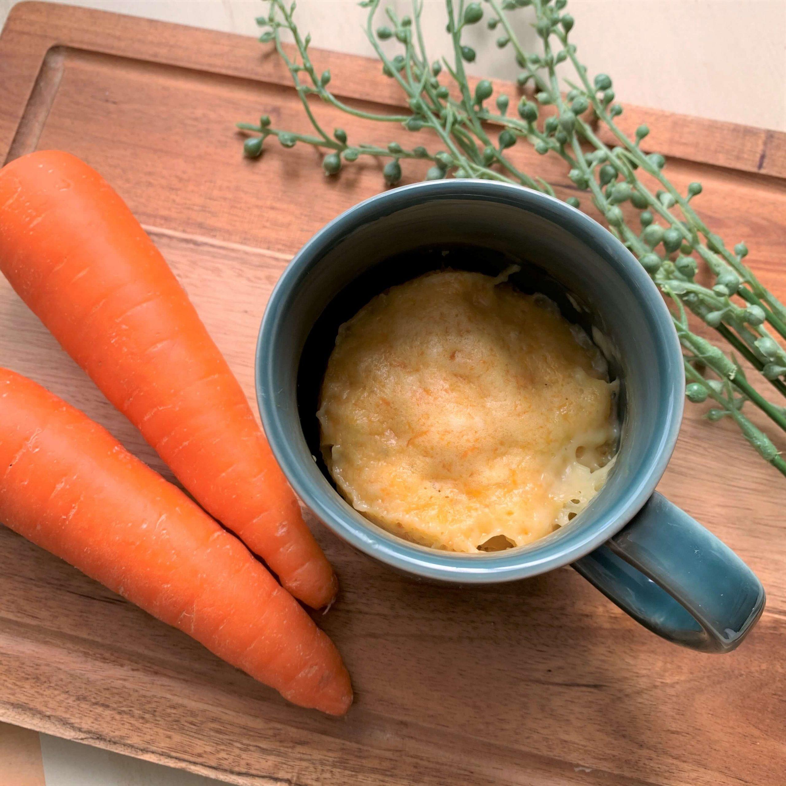 朝食に☆チーズとにんじんのマグカップ蒸しパン