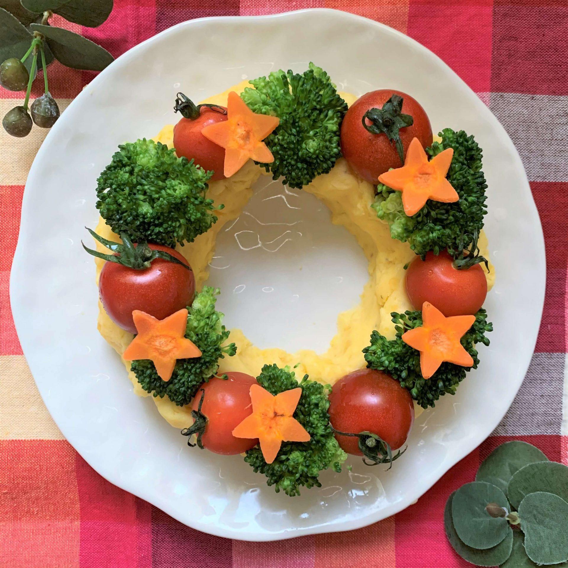 クリスマスに☆ポテトサラダのリース